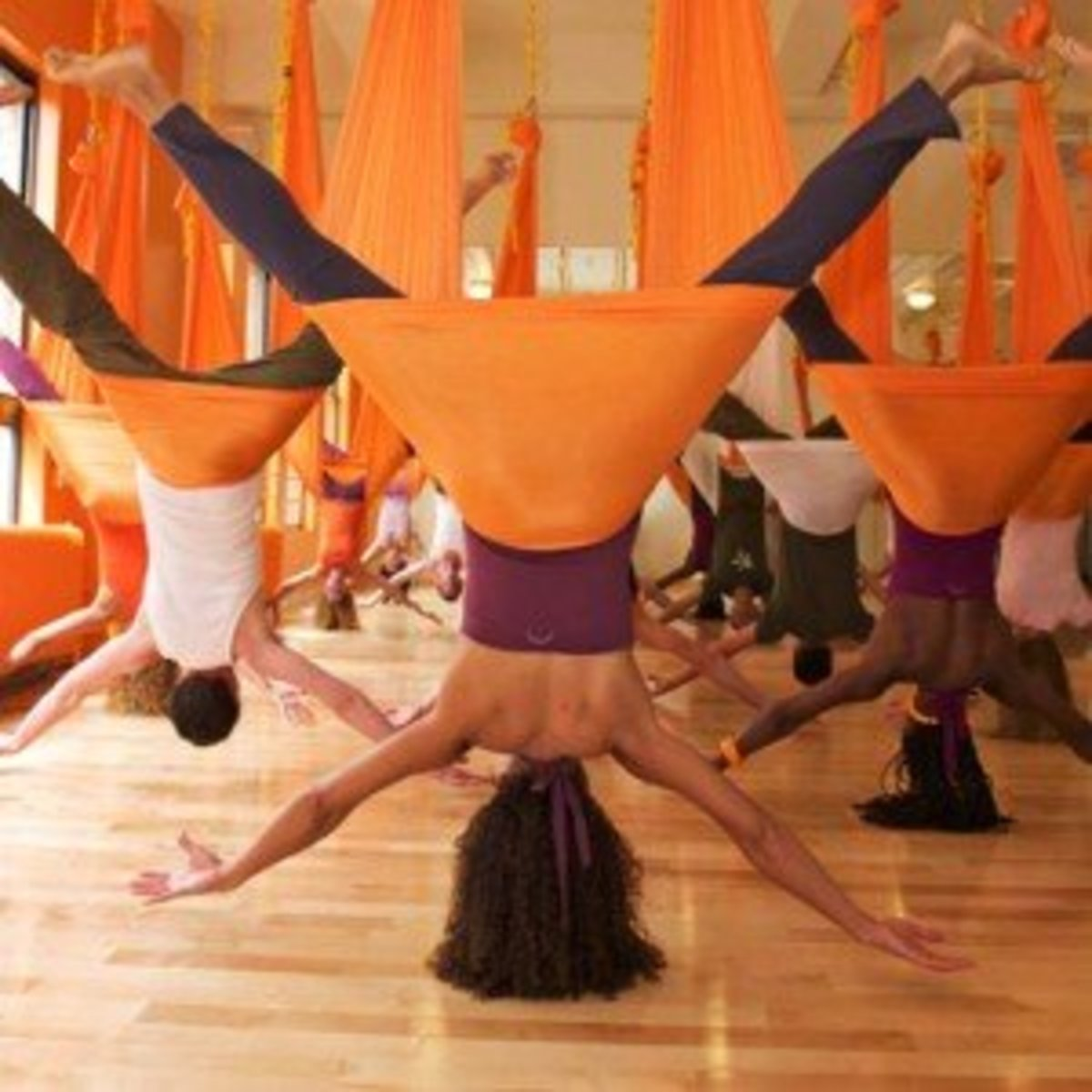 Anti Gravity Yoga, Aerial Yoga Fitness, Antigravity Yoga Swings / Hammock Frames For Home Use