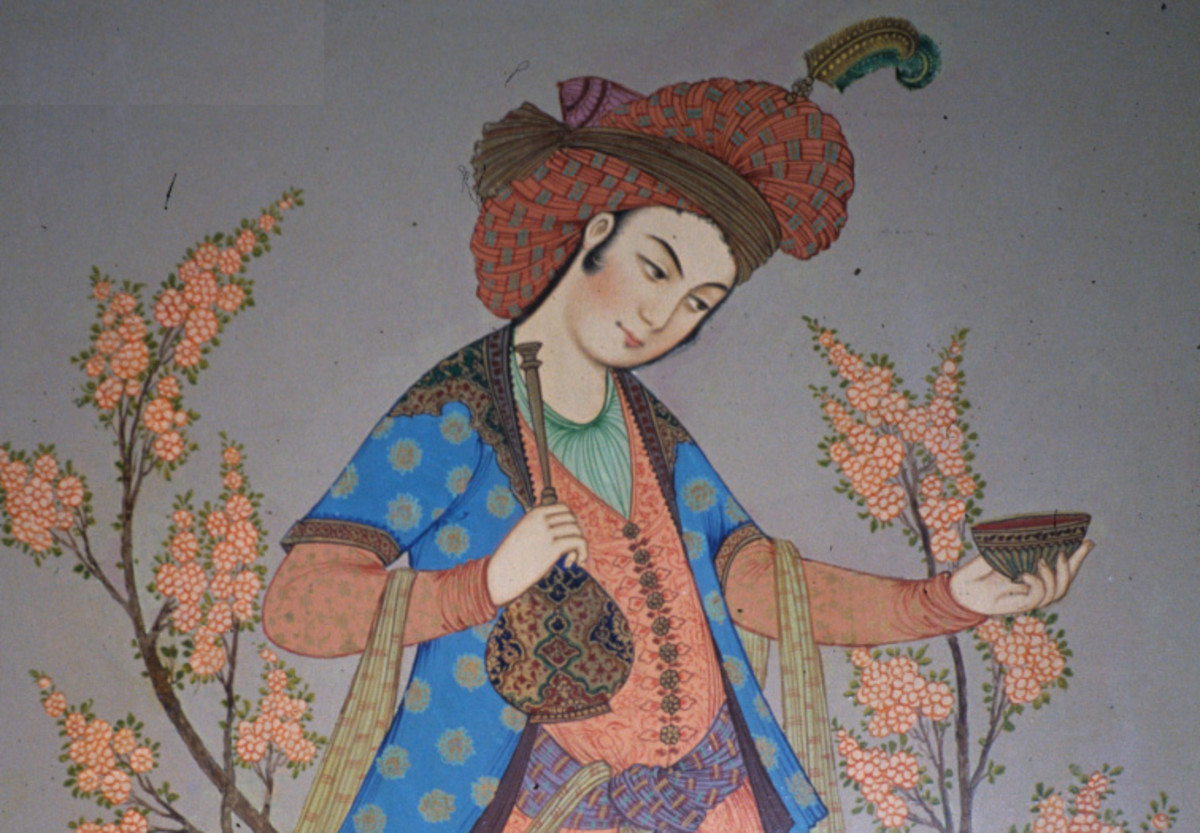 Image in the public domain. Painting from ancient Persia.