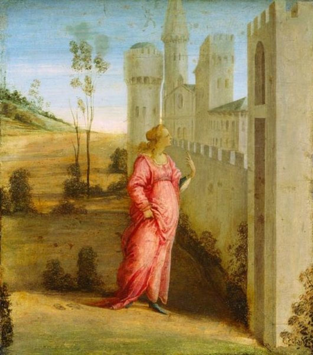 """Esther at the Palace Gate"" by Botticelli."