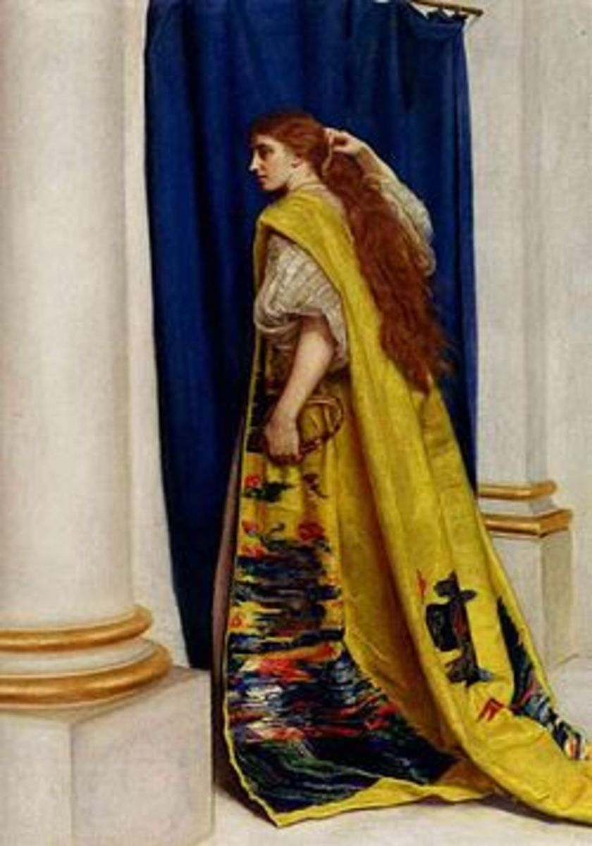 """This painting is in the public domain. """"Esther,"""" by John Everett Millais"""
