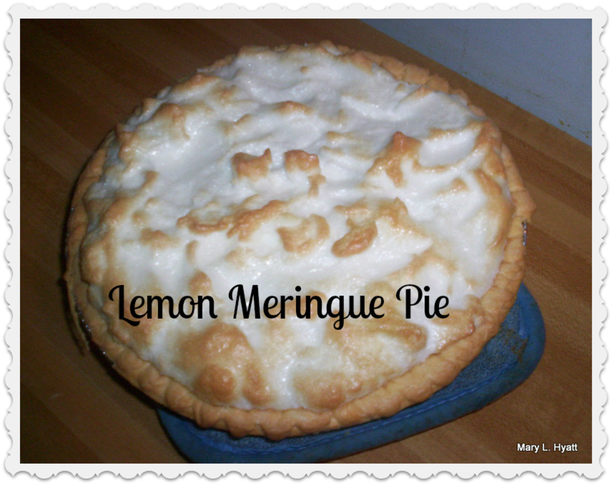 How To Make An Easy Lemon Meringue Pie In The Microwave;  Flaky Pie Crust Recipe Included:  Instructions With Photos
