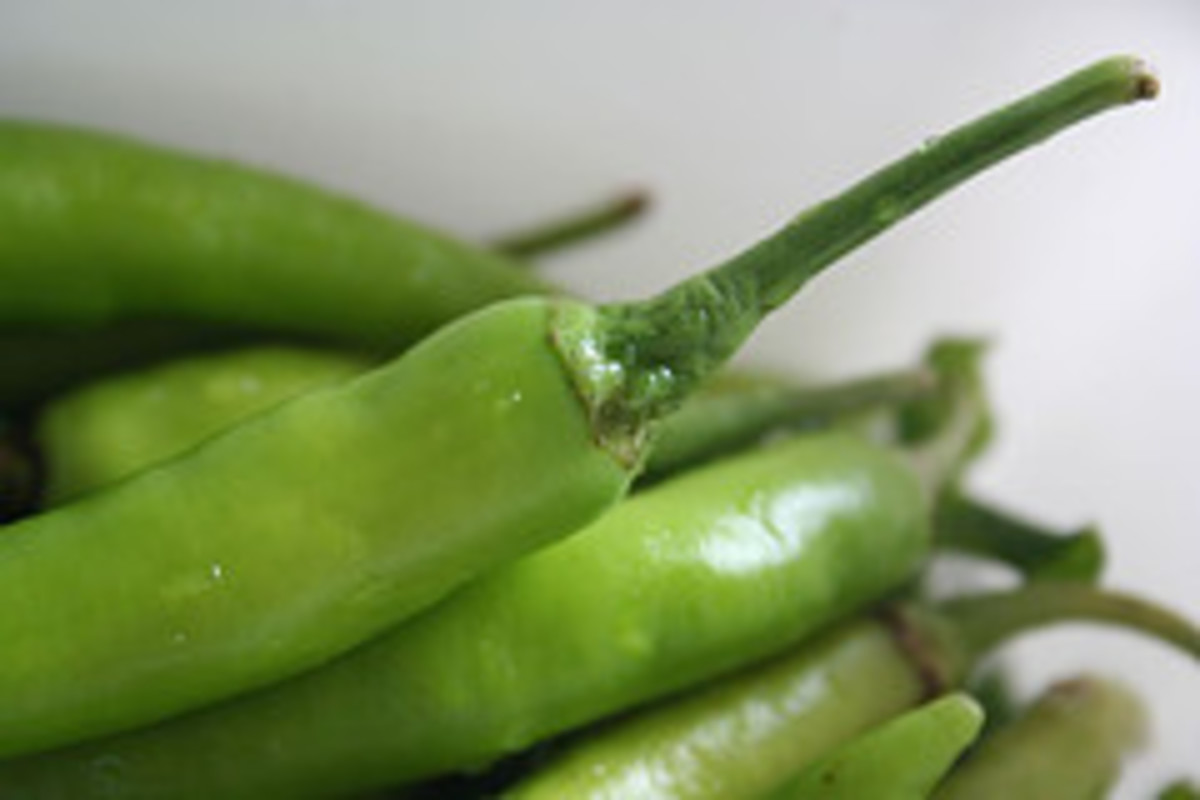 Long Green Peppers Perfect for Sinigang Recipes or Siling Haba in Filipino (Photo Credit: tilandoy Flickr)
