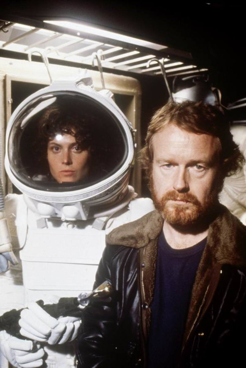 Sigourney Weaver with Ridley Scott