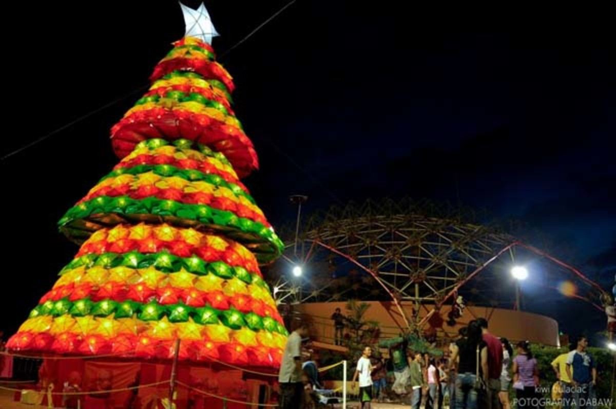 People's Park, Davao City during Christmas