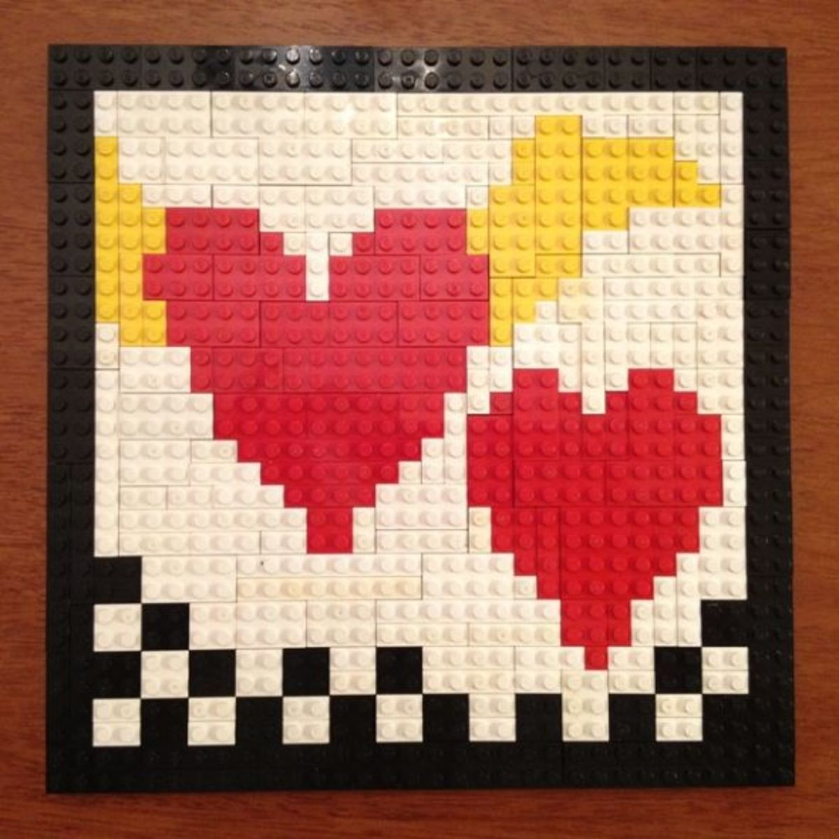 LEGO Heart Mosaic for Valentines