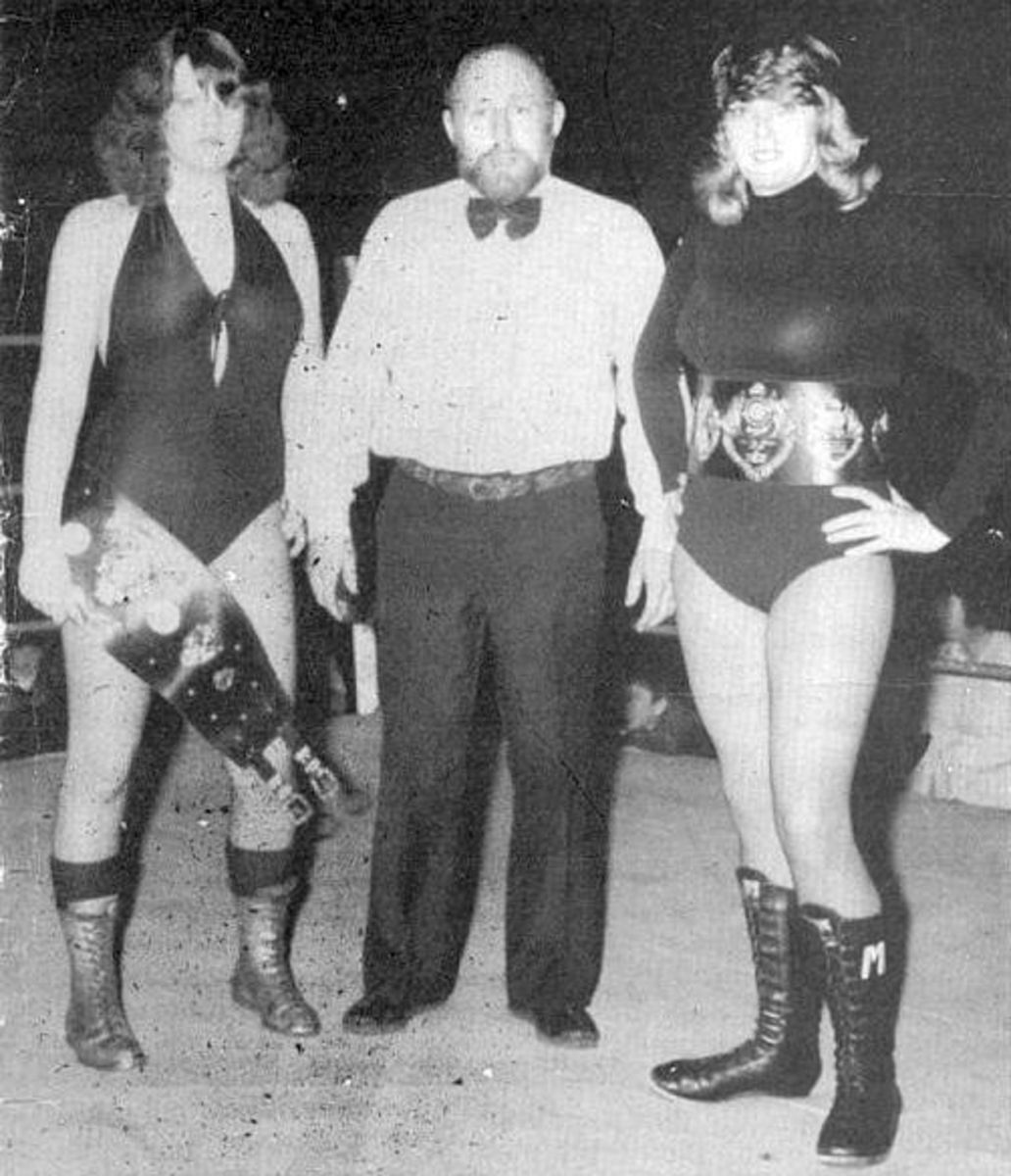 British Female Wrestling - Mitzi Mueller and Rusty Blair