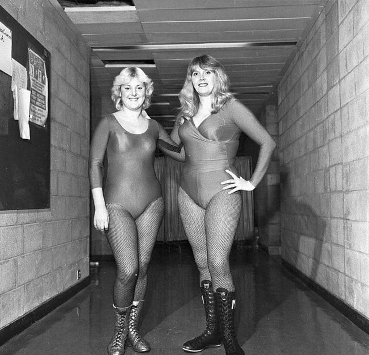 UK Female Wrestlers Mitzi Mueller and Nikki Monroe