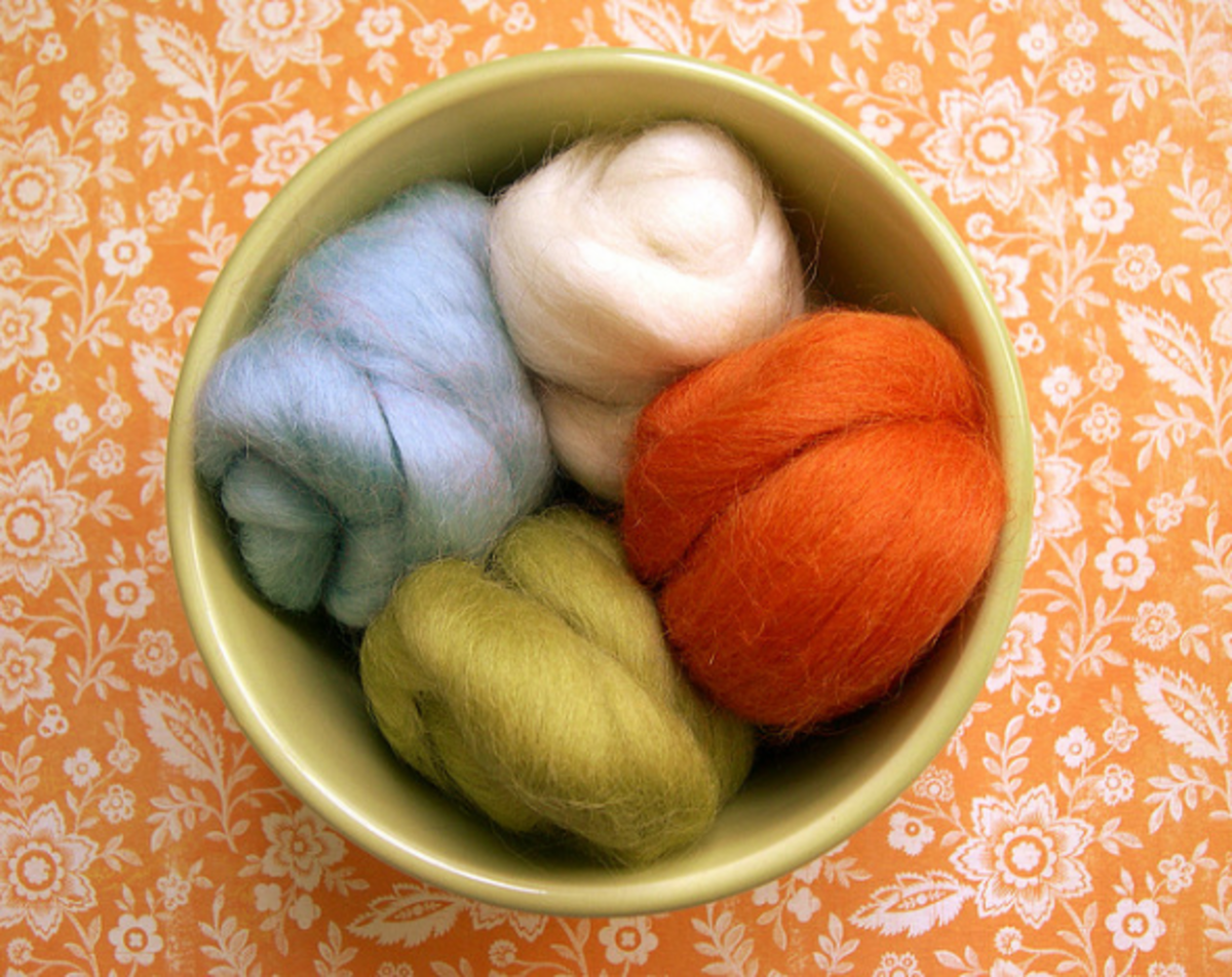 This lovely soft wool is what you need to felt.