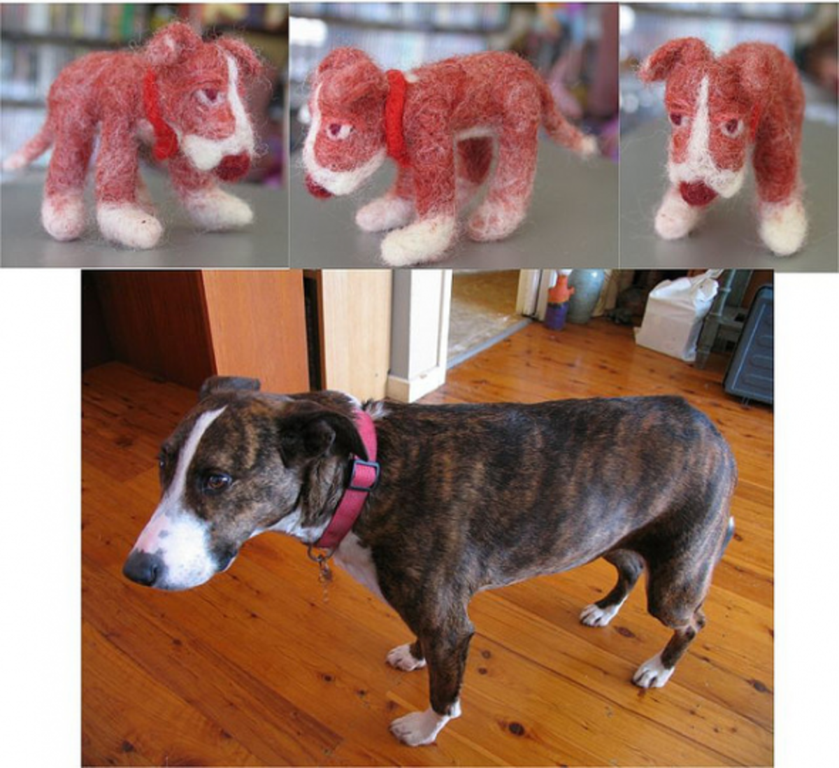 Why not try to replicate your own pet in felt?