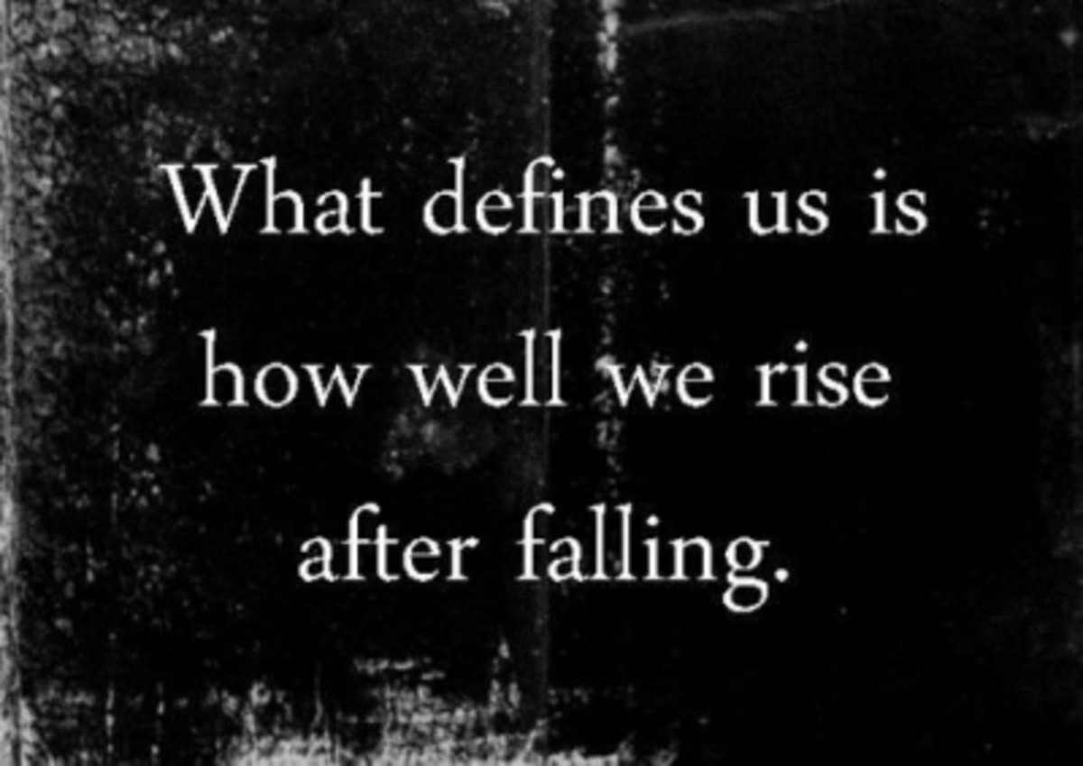 RISE UP... lick your wounds and then? CONTINUE ON