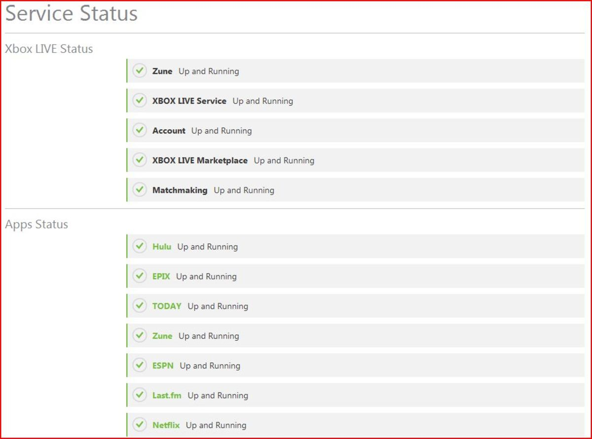 Check the Xbox Live Service Status page to see the current status of Xbox Live and the Netflix app.