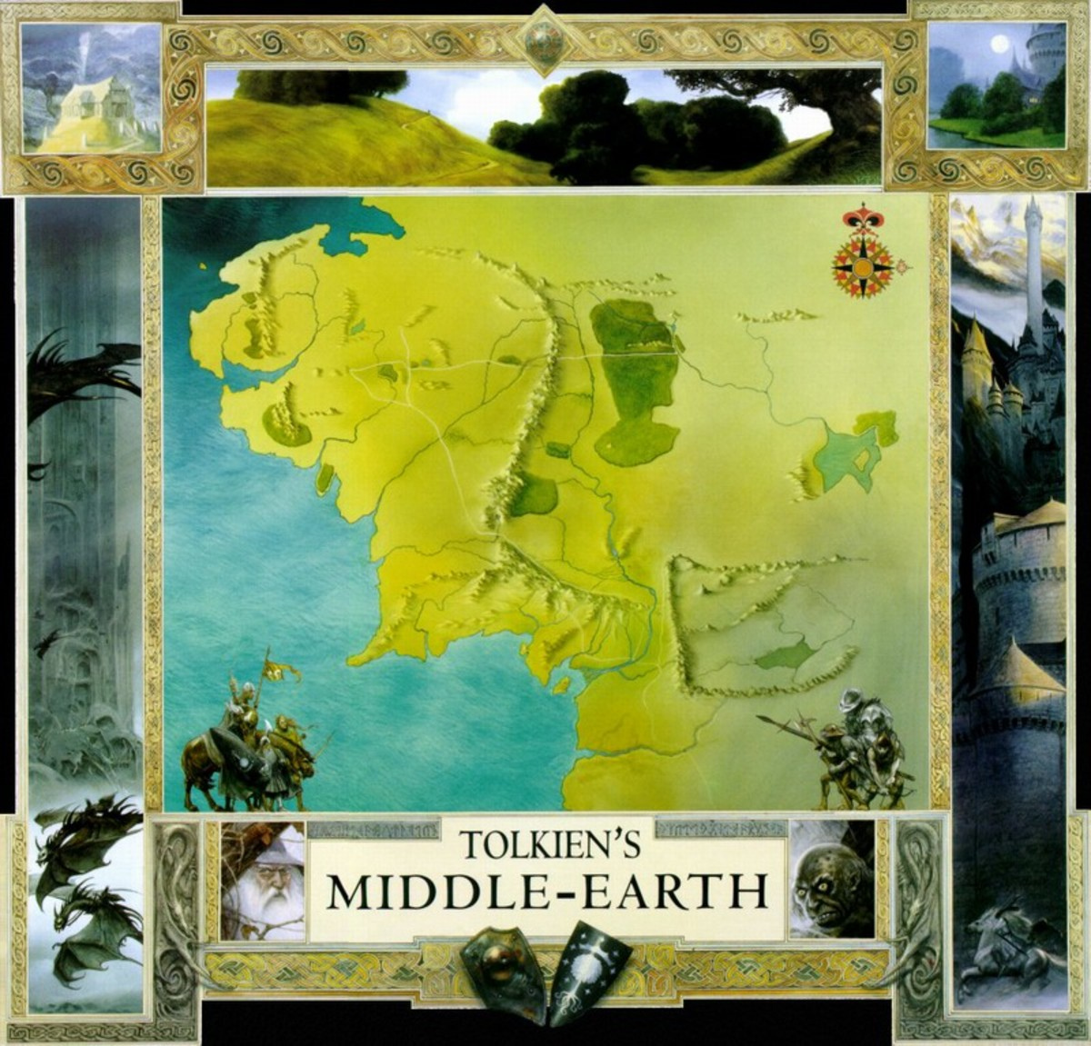 Map of Middle-Earth - art by John Howe