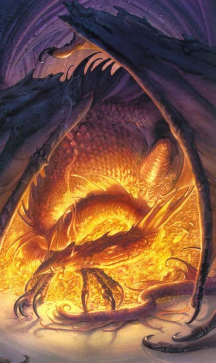 Smaug the Golden - Art by John Howe