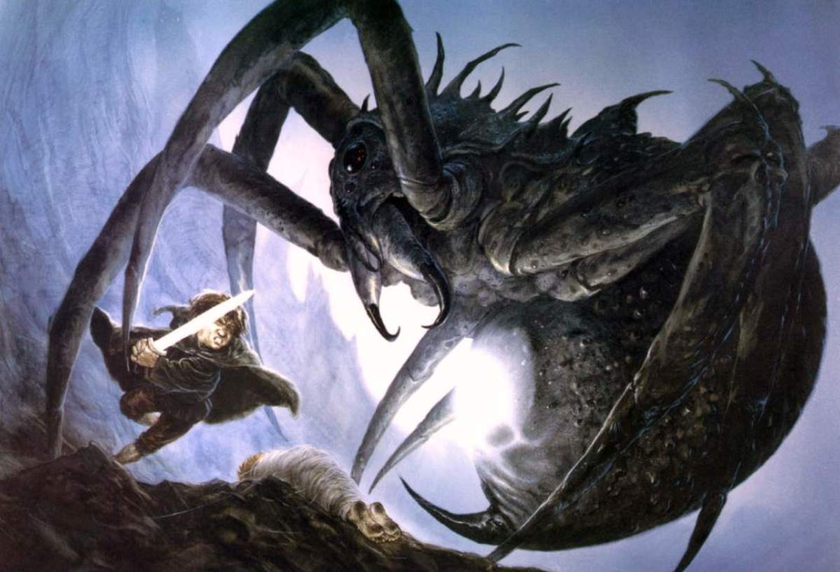Sam and Shelob - art by John Howe