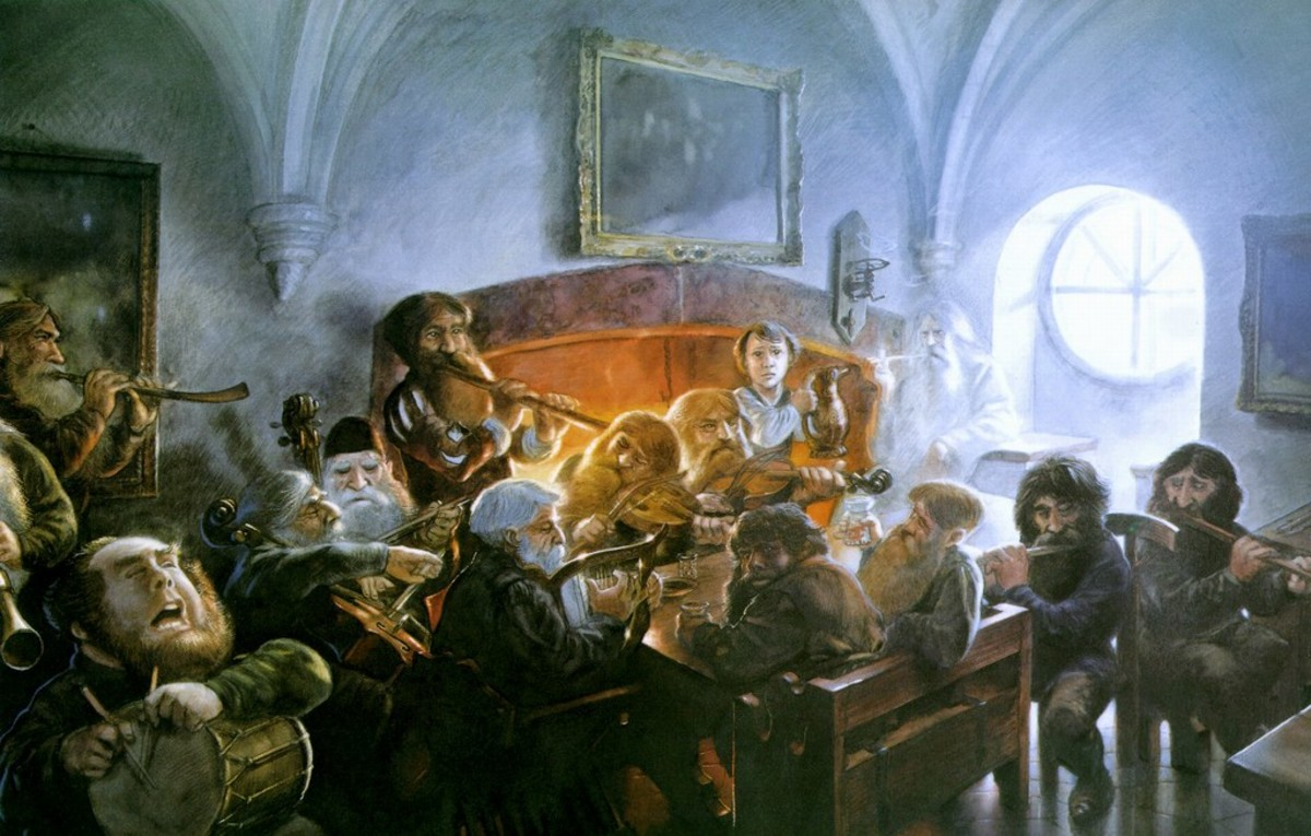 An Unexpected Party - art by John Howe