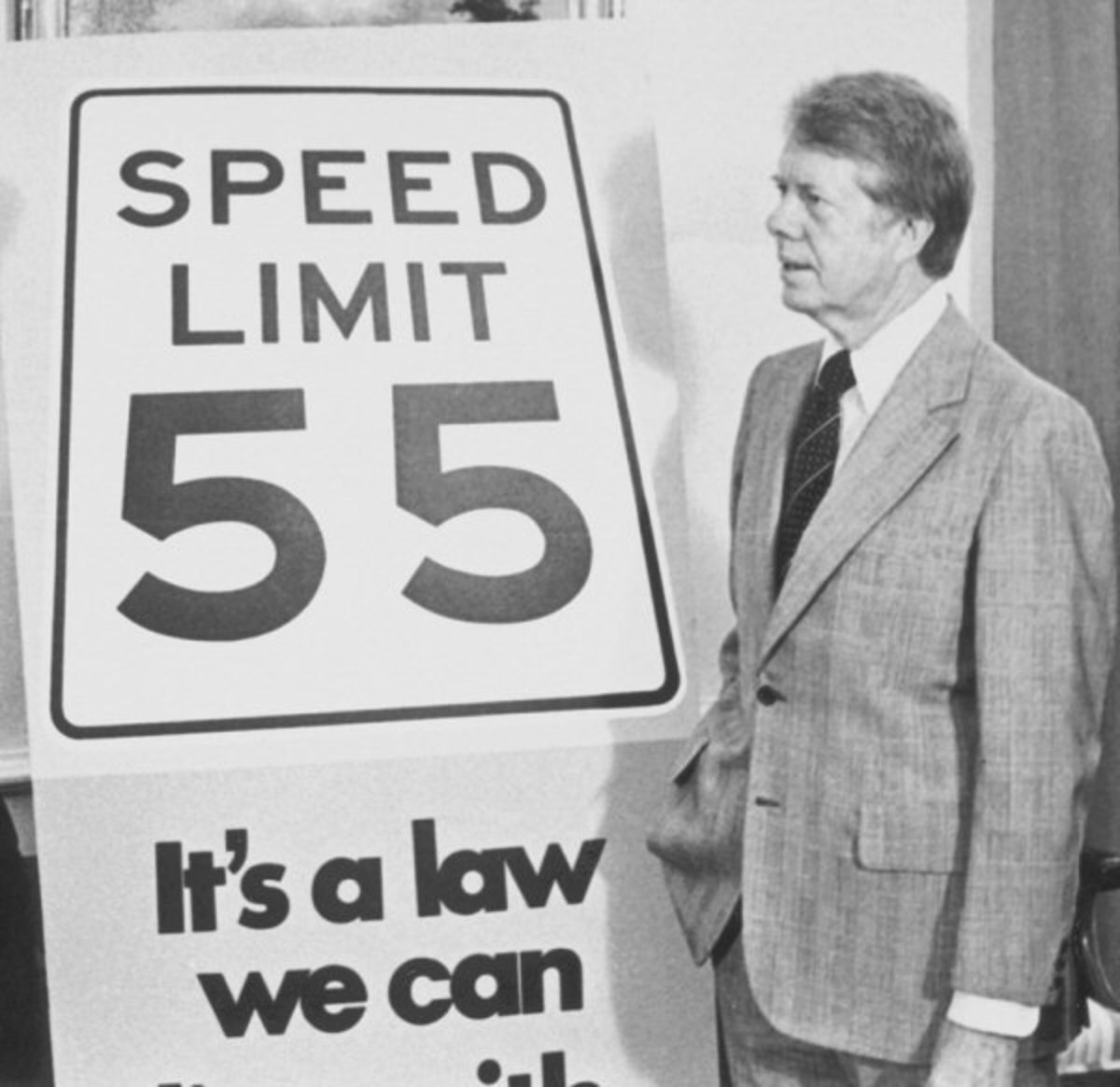 At one time we could not go faster than 55 mph anywhere in the United States.