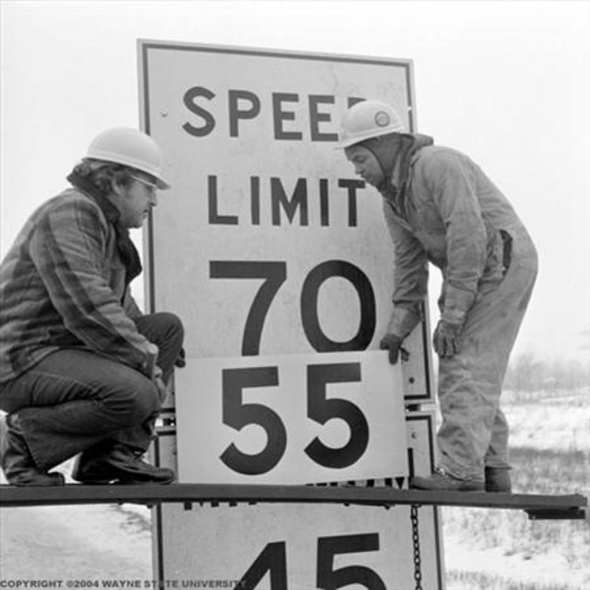 Years ago the speed was dropped to 55 nationally to decrease fuel consumption