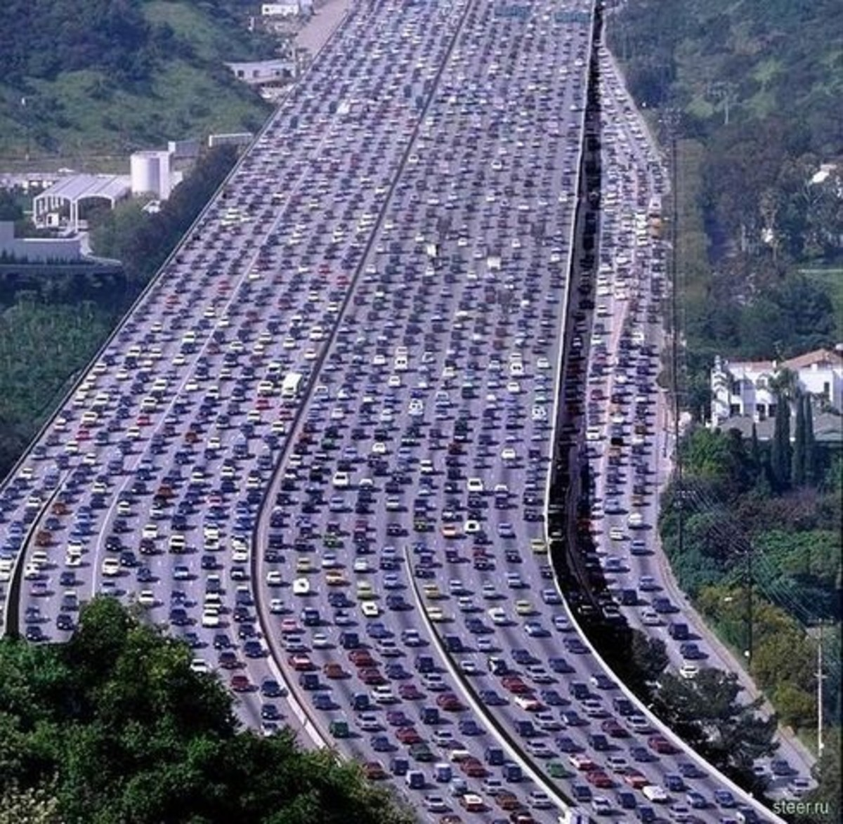 The longest traffic jam in the world recorded in China. Its length is 260 kilometers