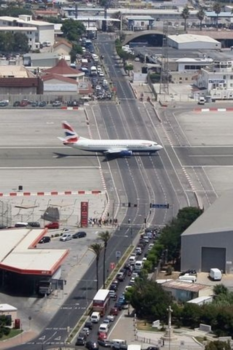 Gibraltar Airport is one of the most extraordinary airports around the world