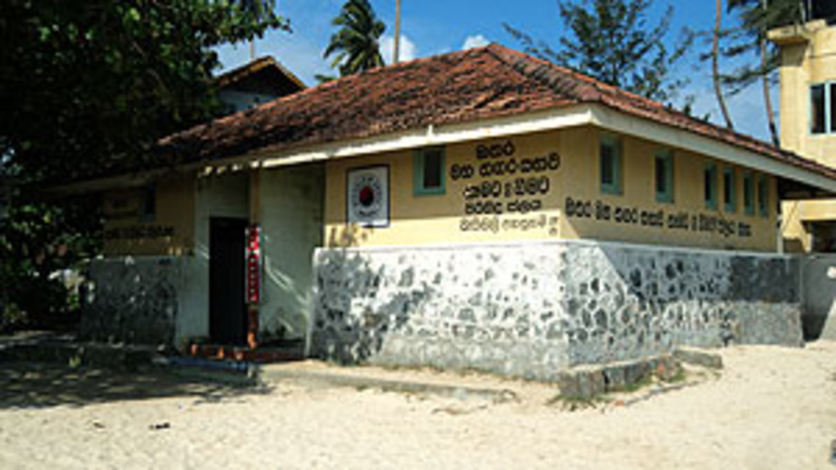 Freshwater bathing house maintained by the Municipal Council, Matara.