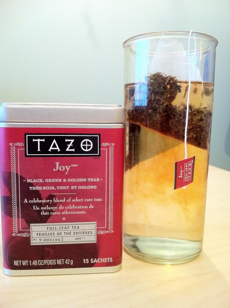 The seasonal Joy tea.