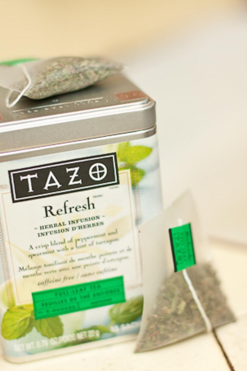 Super minty Refresh tea.