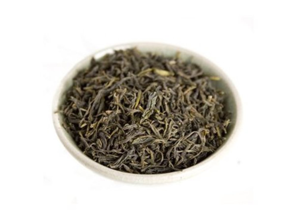 Inside the China Green Tips teabag.