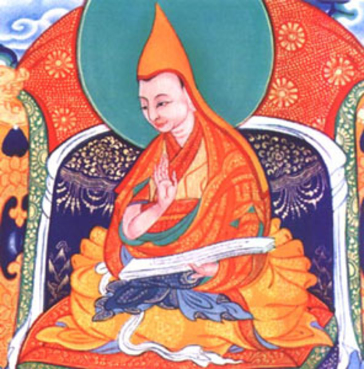 The scroll painting of the First Panchen Lama