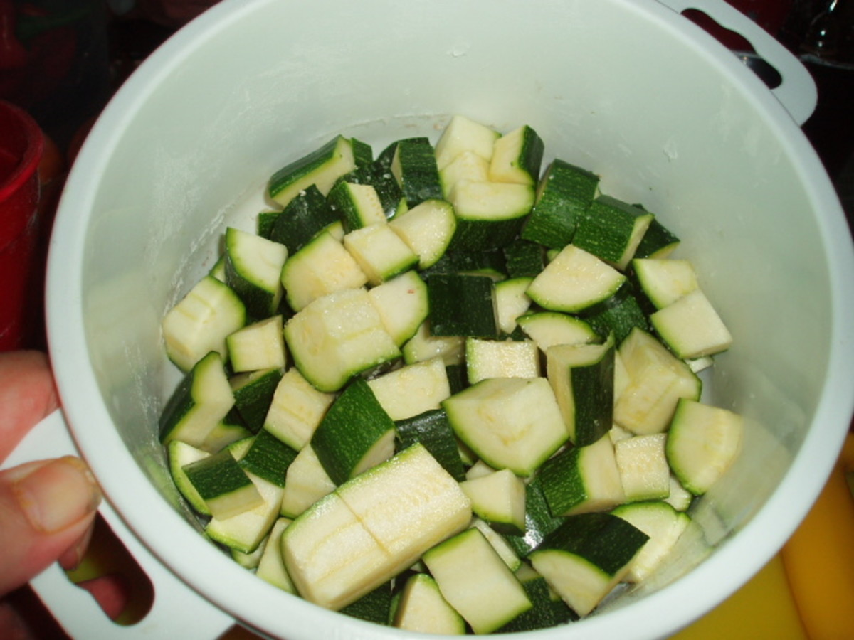 cucumber and cougettes
