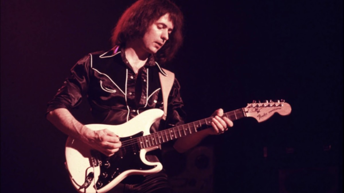Heavy Metal Pioneer Ritchie Blackmore and His Fender Stratocaster.