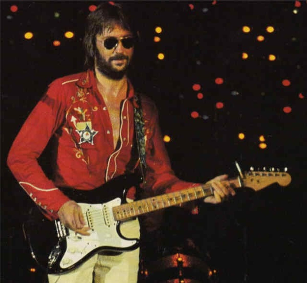Clapton and Blackie, a Strat composed from parts of several different Strats.