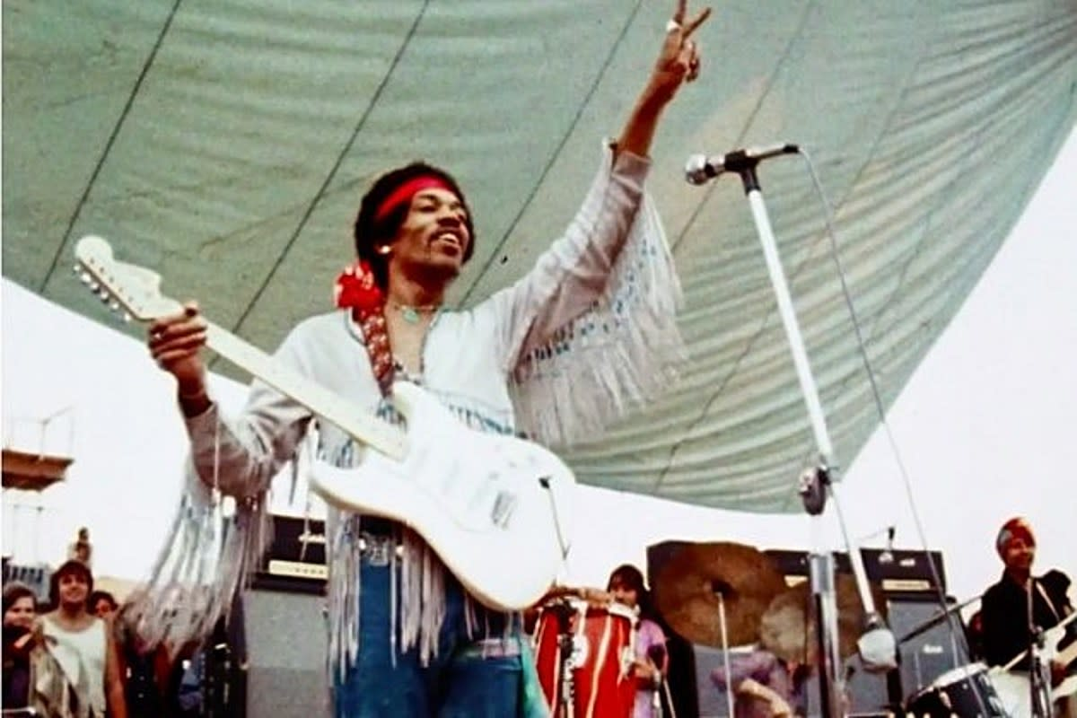 Hendrix at Woodstock.