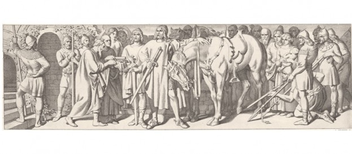 Harald Sigurdsson and Tostig take the surrender of York by Earl Morkere and his older brother Earl Eadwin of Mercia