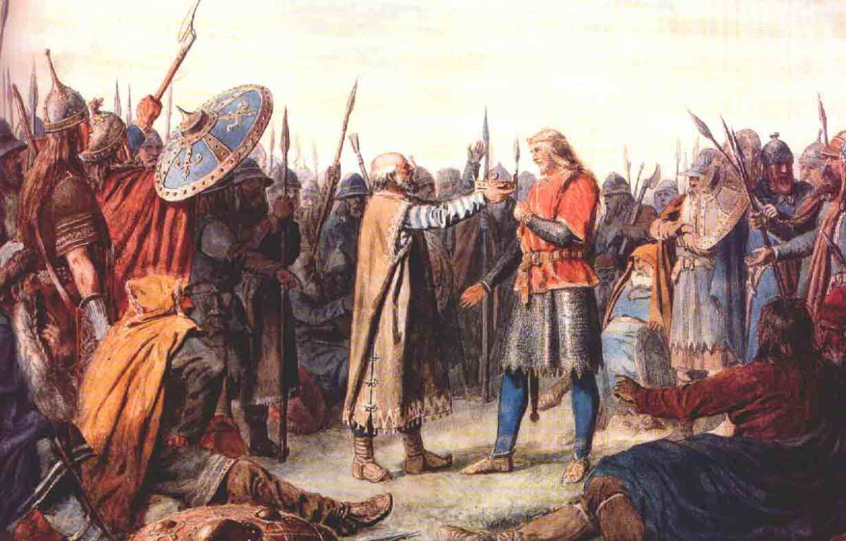 Tostig Godwinson's acceptance by the northern nobles AD 1055 - a strong man was needed to succeed Siward in this unruly earldom