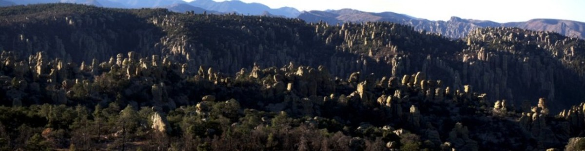 "Chiricahua Mountains, land of legends, the eerie scenic view of pillars and vertical rock formations is where the movie, ""Cowboys and Aliens"" was filmed."