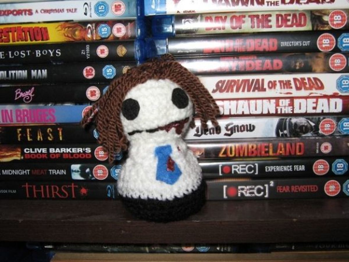 And the Corporate Zombie from Creepy Cute Crochet, whom I call Bob.
