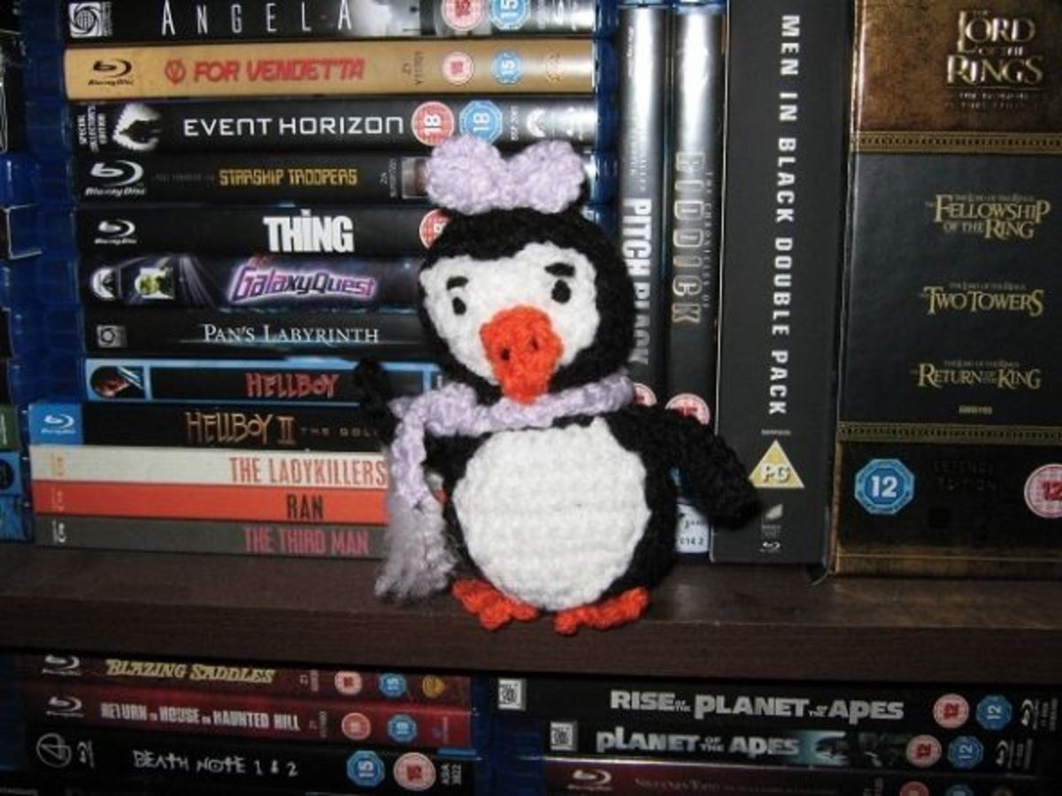 Another from Tis the Season to Crochet, Party Girl Penguin
