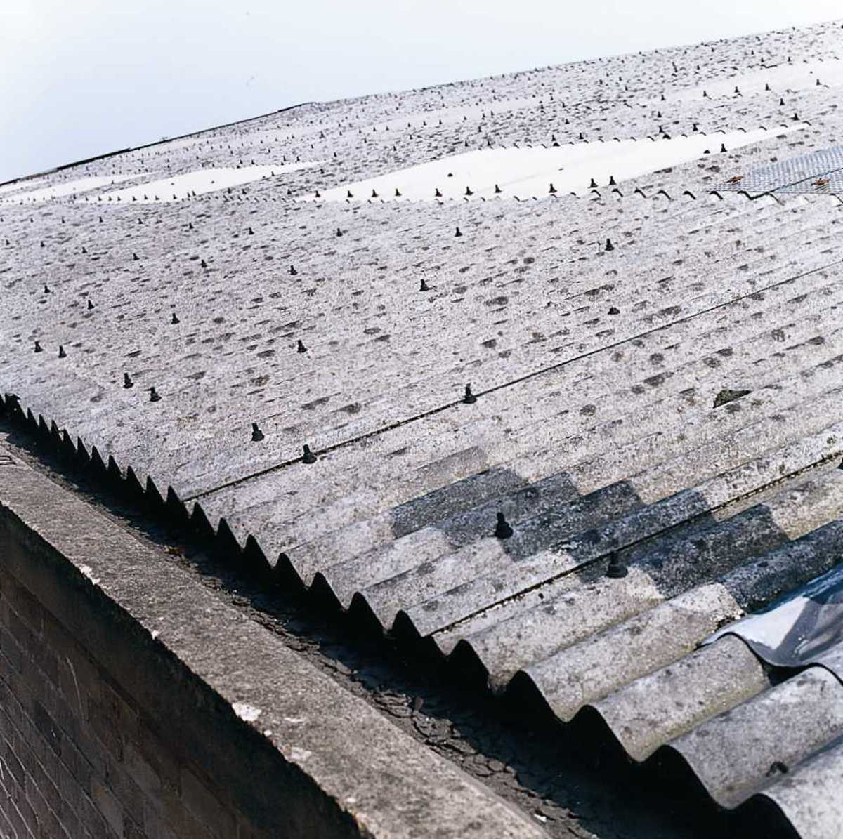 White asbestos roofing sheets
