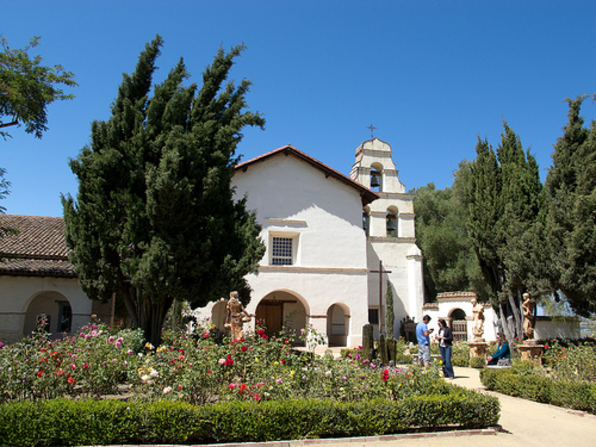 Mission San Juan Bautista is the largest of the Spanish missions in California.