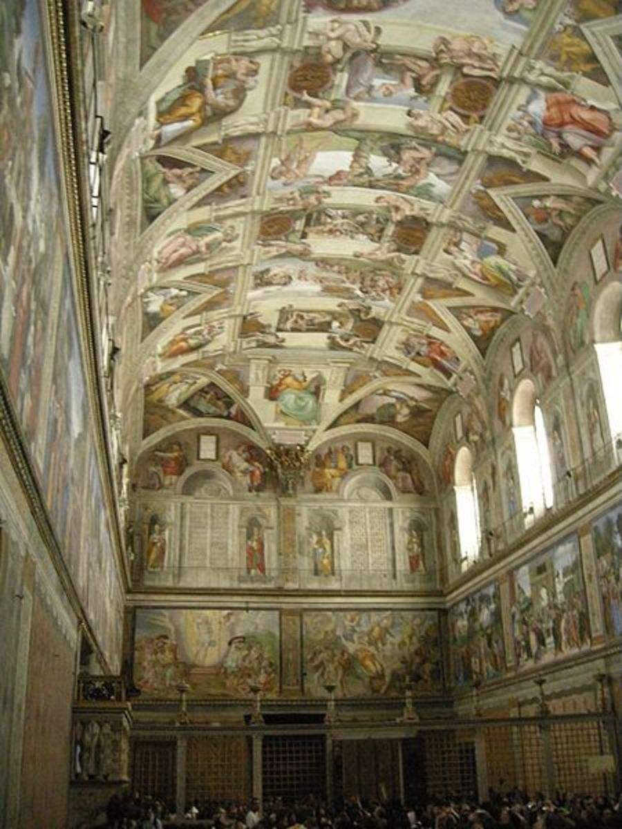 Sistine Chapel, Vatican City, painted by Michaelangelo  1508-1512
