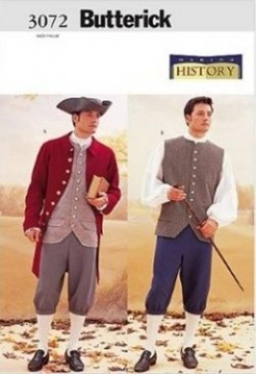 Butterick Patterns B3072 Historical Costume (Coat, Vest, Shirt, Pants and Hat)