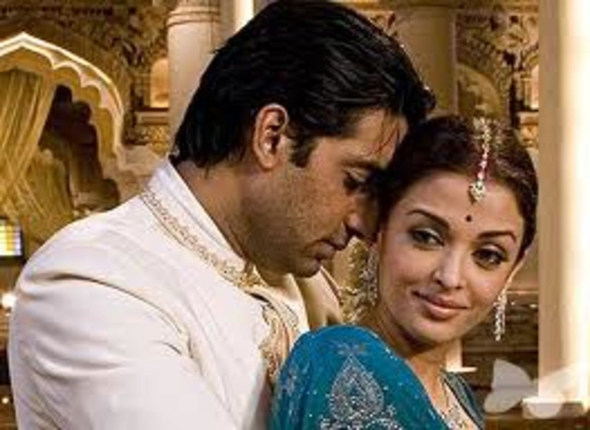 Abhishek Bachchan and Aishwarya Rai in Guru.