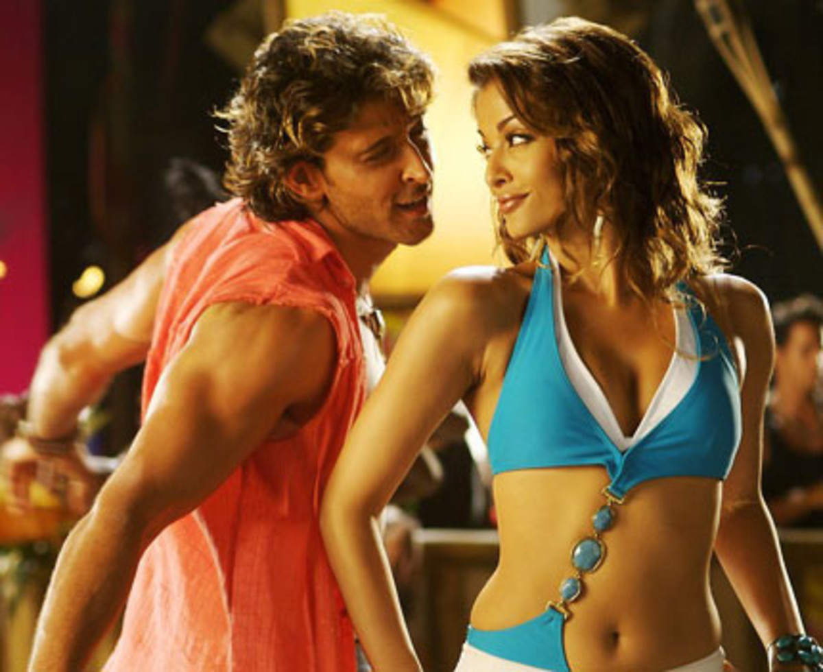 Aishwarya Rai and Hrithik Roshan in Dhoom 2.