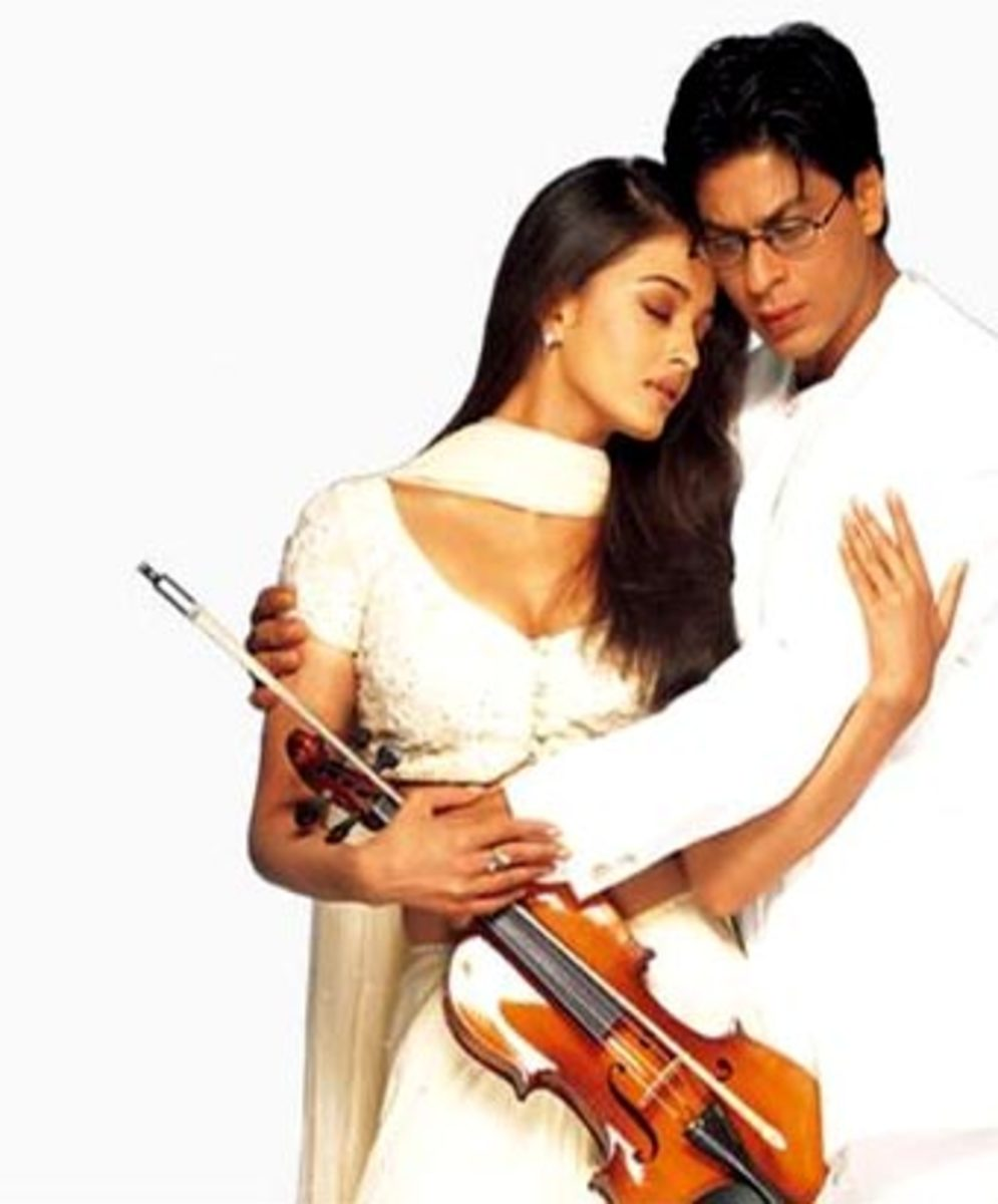 Aishwarya Rai and Shahrukh Khan in Mohabbatein.