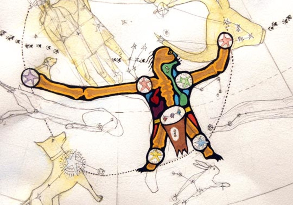 Native American constellation: The Wintermaker Returns.