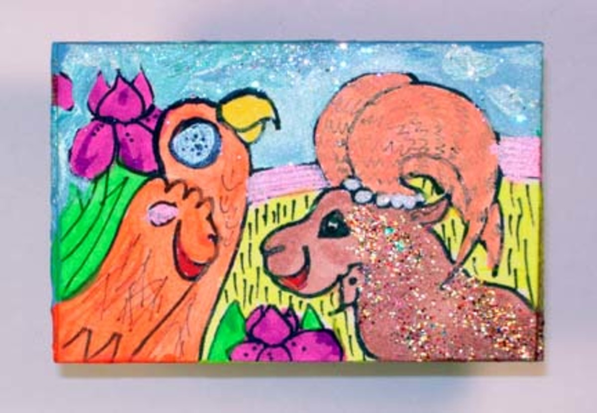 So colorful and interesting, Maija Peebles-Bright is another favorite artist selling some of her work through Art-O-Mat.