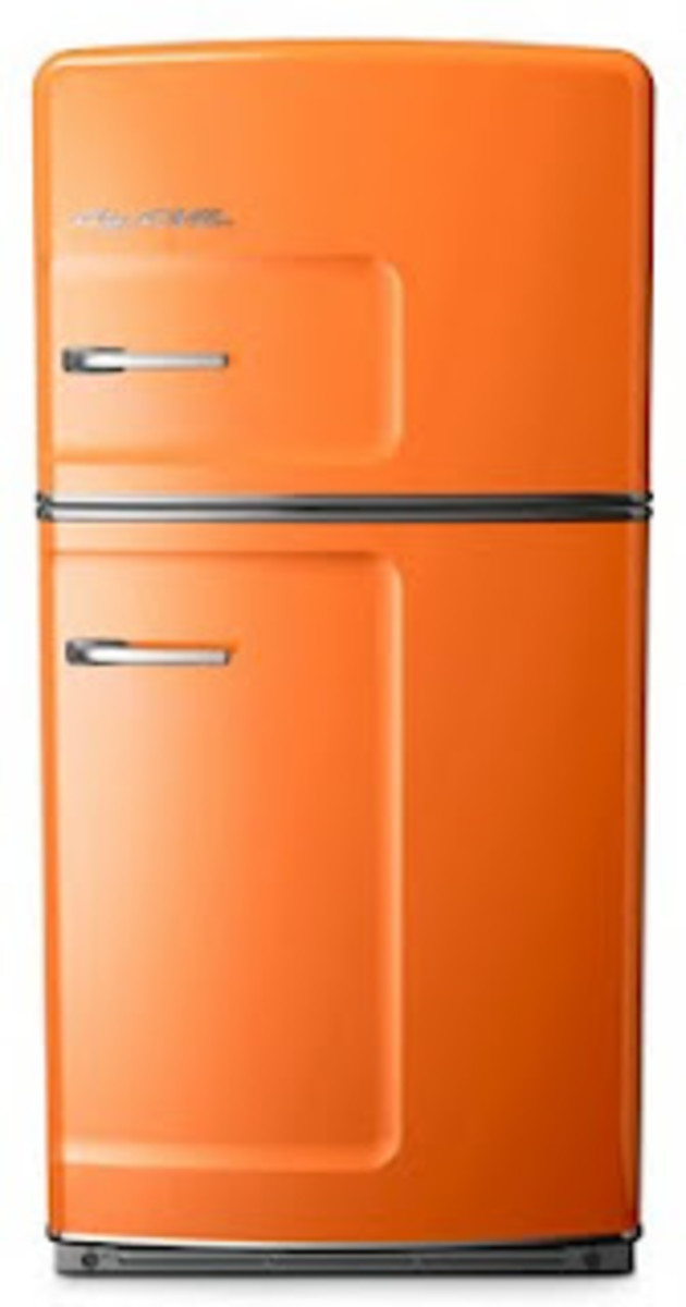 Big Chill 70s orange fridge