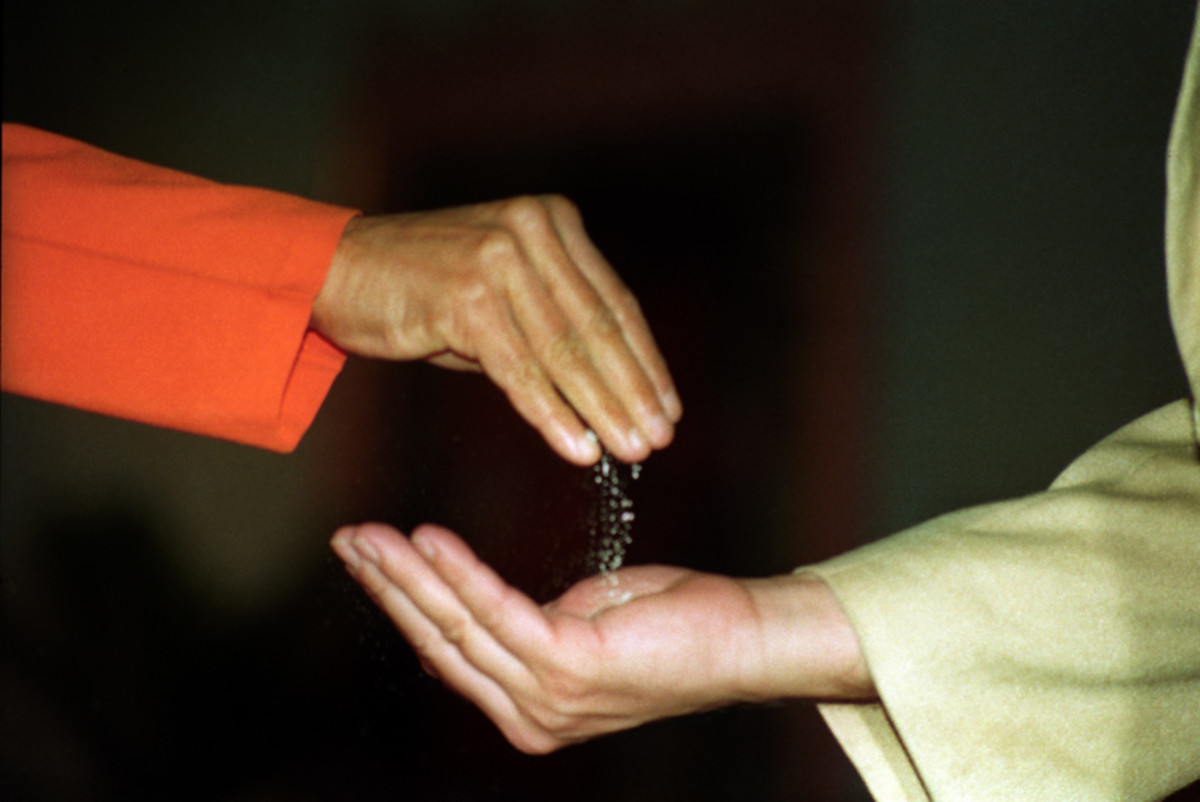 Creating vibhuti apparently is the most frequent materialization that we have seen Swami doing...