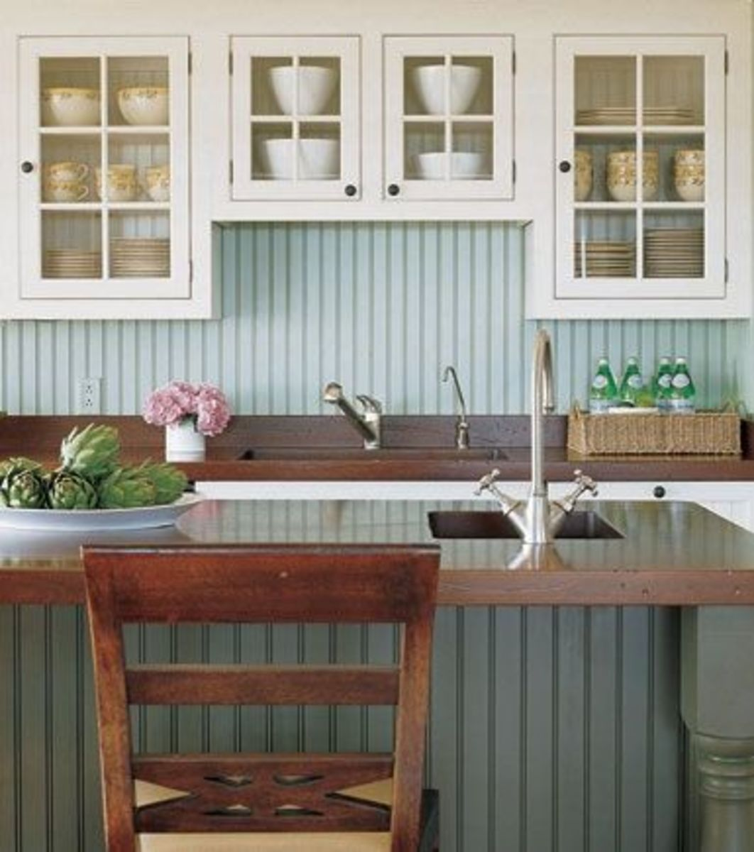 Coastal kitchen comfort and sophistication for Beach cottage kitchen cabinets