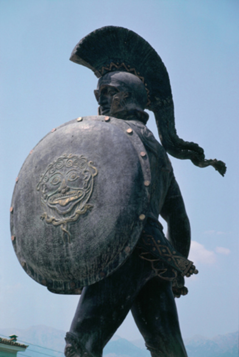 Leonidas, commemorative statue at Thermopylae